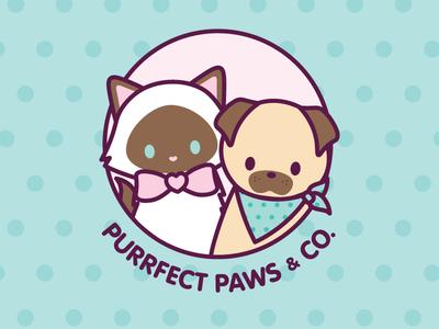 Purrfect Paws & Co Logo Design
