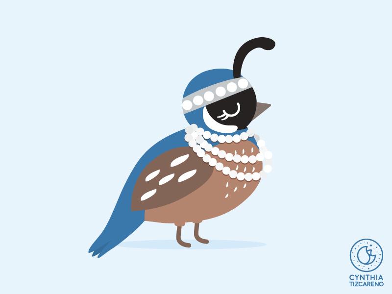 Flapper Quail vector illustration cute art bird illustration vector art bird quail flapper cute