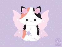 calico cat fairy