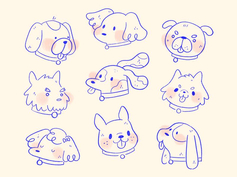Just Some Good Boys good boys procreate animals dogs doodles illustration
