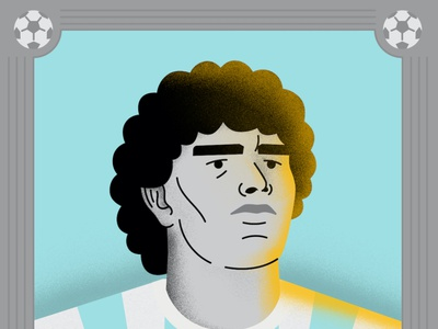 Maradona adobeillustator vector soccer sportsillustration illustrator photoshop sports illustration