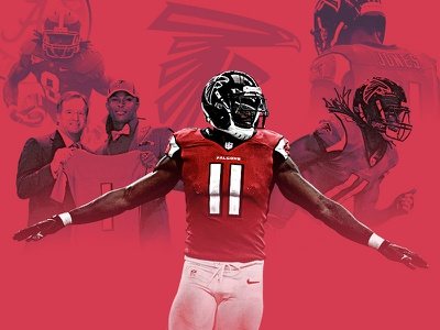 The trade that turned the tide centerpiece football photoshop julio jones sports nfl