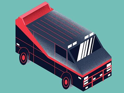 A-Team Van  minimal illustrator vector illustration design a-team televison 1980s