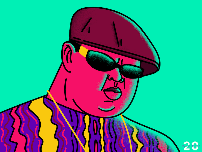 Notorious B.I.G. pop design vector illustration hip hop biggie notorious big