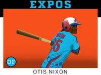 Otis Nixon Montreal Expos