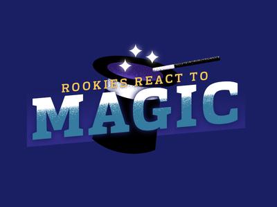 Rookies React To Magic illustrator logo photoshop team sports graphic design football sports nfl
