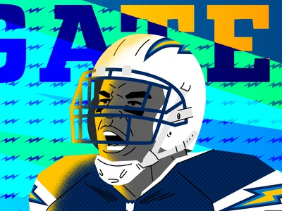 Antonio Gates Los Angeles Chargers pop culture editorial vector illustration illustrator photoshop team sports graphic design football sports nfl