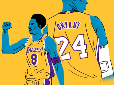 Kobe Bryant basketball lakers kobe bryant illustration sports nba sports illustration