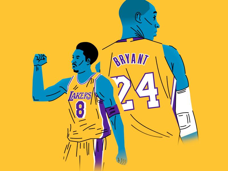 Kobe Bryant basketball lakers kobe bryant illustration sports nba sports illustration