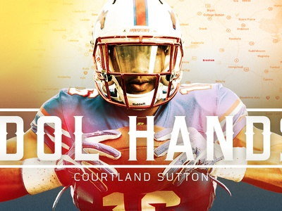 Idol Hands graphic design college football smu photo edit editorial illustraion longform sports football nfl