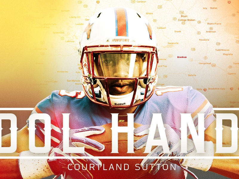 Courtland Sutton Back 2 Campus graphic design college football smu photo edit editorial illustraion longform sports football nfl