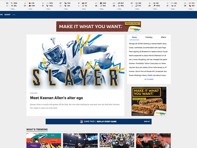 Slayer Keenan Allen graphic  design longform sports design editorial los angeles la chargers vector photoshop characters illustrator nfl football illustration