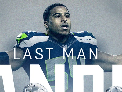 Bobby Wagner Last Man Standing seattle seahawks seattle edits sports design editorial design sports graphic design design photoshop nfl football illustration