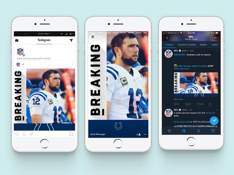 Social News design template sports design news design twitter facebook instagram social media design design football nfl sports
