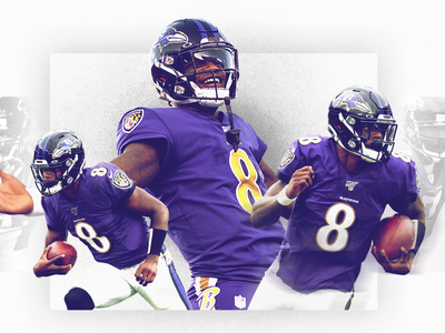Lamar Jackson Record Breaker Center Piece graphic design design photoshop nfl football illustration