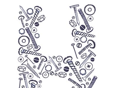 Screw H screws nutsandbolts lettering makeartthatsells