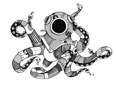octo tshirt graphics makeartthatsells illustration