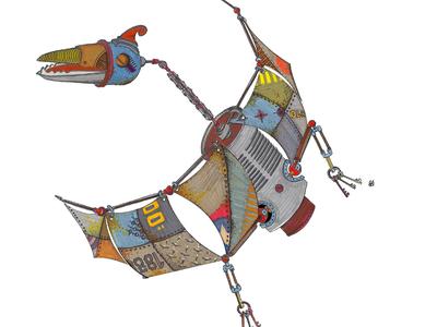 pterodactyle makeartthatsells illustration tshirt graphics