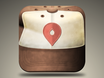 Dusty Hat icon iphone app hat brown skeuomorphic realistic dirty cloth adobe fireworks ui farm ios