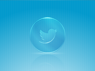 Classy Glass Twitter Icon