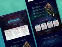 Elo Boosting Landing Page