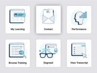 Icon Set for LMS Dashboard