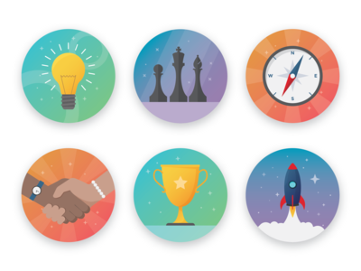 Icon Set for Achievement Badges