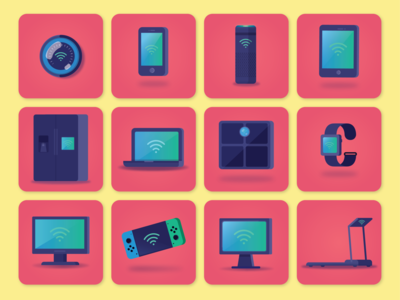 Wifi Devices Icon Set
