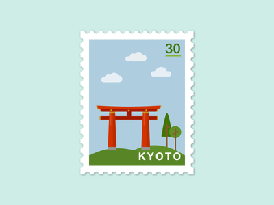 073: KyotoFushimi Inari Shrine illustration 100daysofillustration 100days