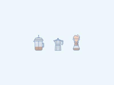 085: Coffee Trio chemex espresso french press coffee sketch challenge 100daysofillustration 100days illustration