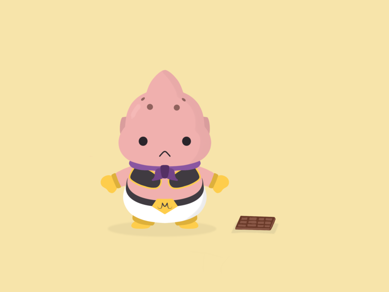 093: Majin Buu procreate sketch illustration 100days 100daysofillustration
