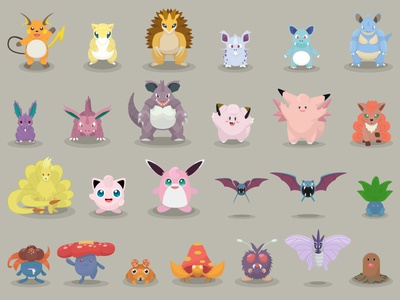 Pokemon Designs 26-50