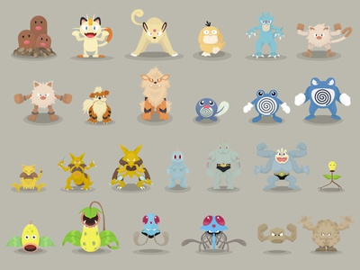 Pokemon Designs 51-75