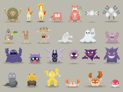 Pokemon Designs 76-100