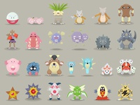 Pokemon Designs 101-125