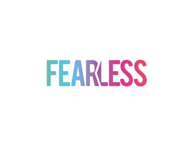 Fearless logo logo design lettering gradient app logotype logo graphic design design branding