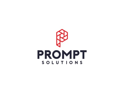 Prompt Solutions Branding construction safety signage industrial brand identity typography logos graphic design logo design  logo  design branding