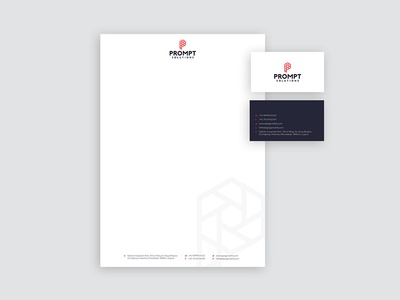 Prompt Solutions Stationery letterhead business card stationery construction safety signage industrial brand identity typography graphic design  logo branding
