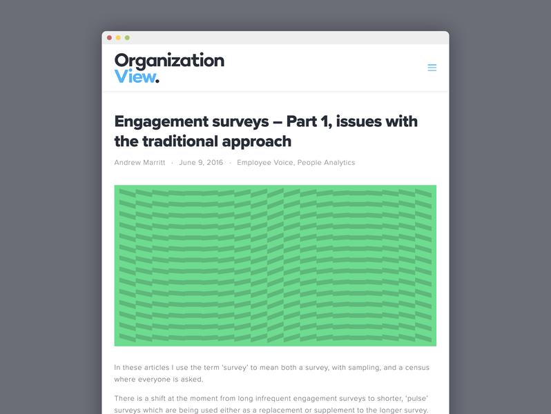 OrganizationView blog design hr swiss design swiss style typography type graphic design design ui ui design web web design website data analytics blog graphic abstract vector squarespace blog design intuition
