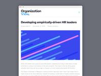 OrganizationView blog design