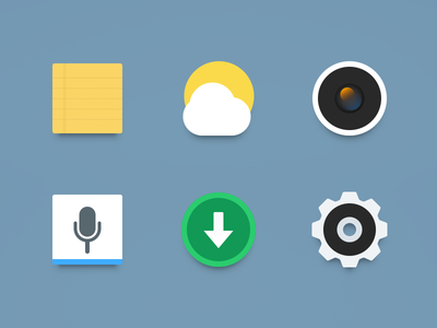 Icon_Newclearface_MX4_Part2 setting icon theme memo note weather camera voice assistant download gear