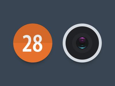CYCOLO_PART02 clendar camera theme icon