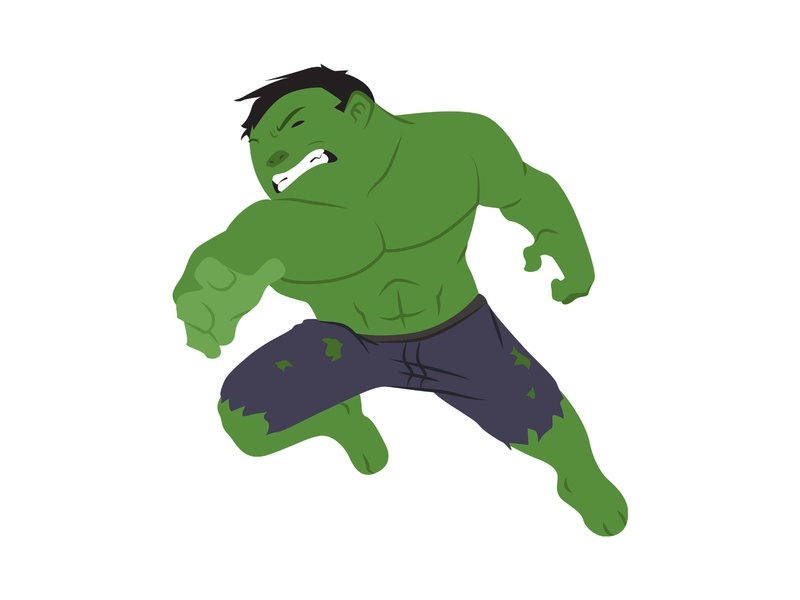 Hulk character avengers superhero vector hero marvel digital art illustration
