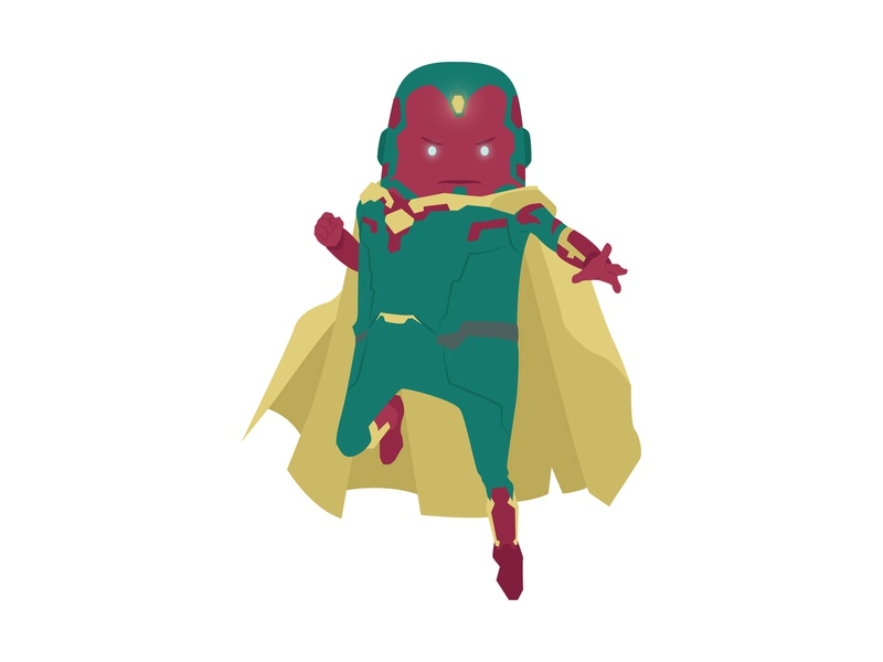 Vision heroes avengers superhero vector hero marvel digital art illustration