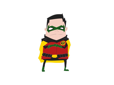 Robin robin digital art illustration dc comics