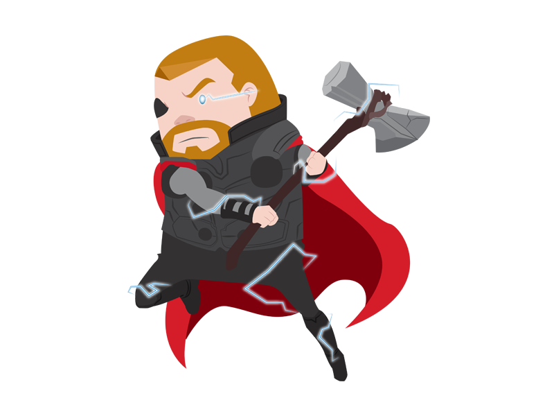 Thor superhero heroes hero thor marvel infinity war illustration disney digital art character avengers