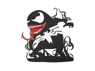 Venom venom marvel illustration digital art character