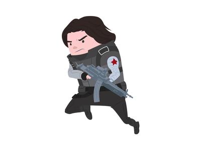 Winter Soldier winter soldier superhero marvel infinity war illustration heroes hero disney avengers digital art character