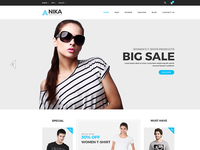 Anika Fashion Shop PSD Template is available to sell copyright