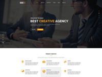 MAKX – Corporate PSD Template is available to sell right